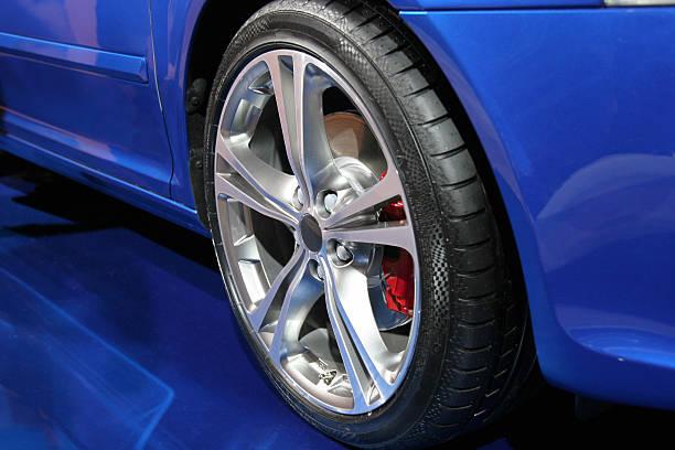 Sports car alloy wheel stock photo