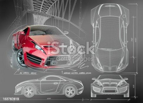 Non branded concept car.