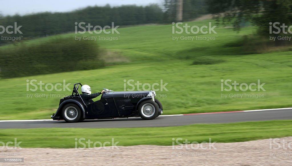 Sports car cornering royalty-free stock photo