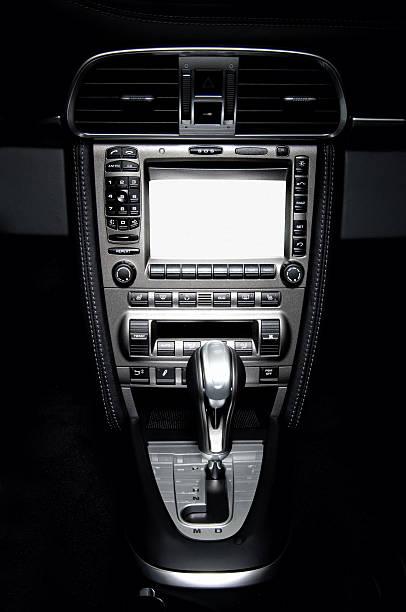 sports car dashboard stock photo
