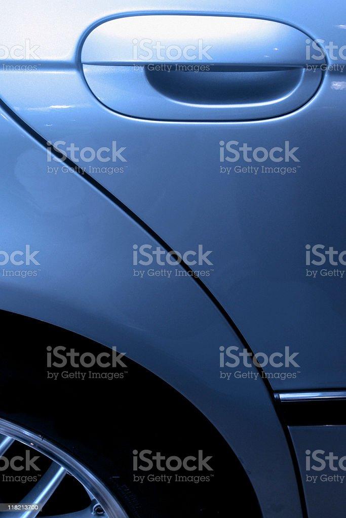 Sports Car Door Handle - Shiny Detailing royalty-free stock photo