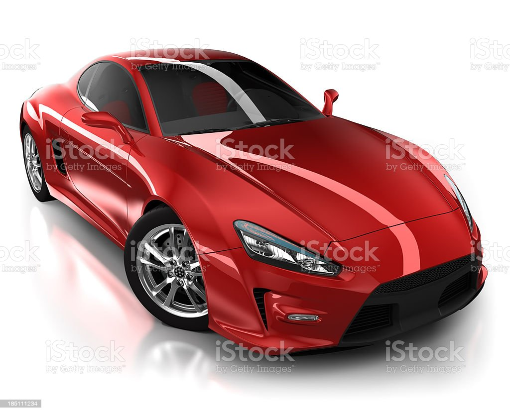 Auto sportive in studio isolato su bianco/clipping path - foto stock