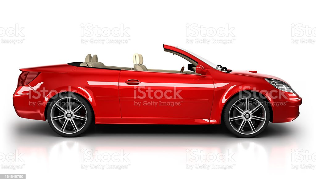 Auto sportive in studio, vista laterale isolata/clipping path - foto stock