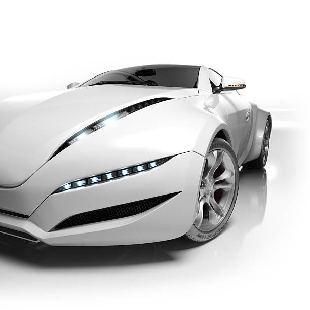 Sports car isolated on white background. stock photo