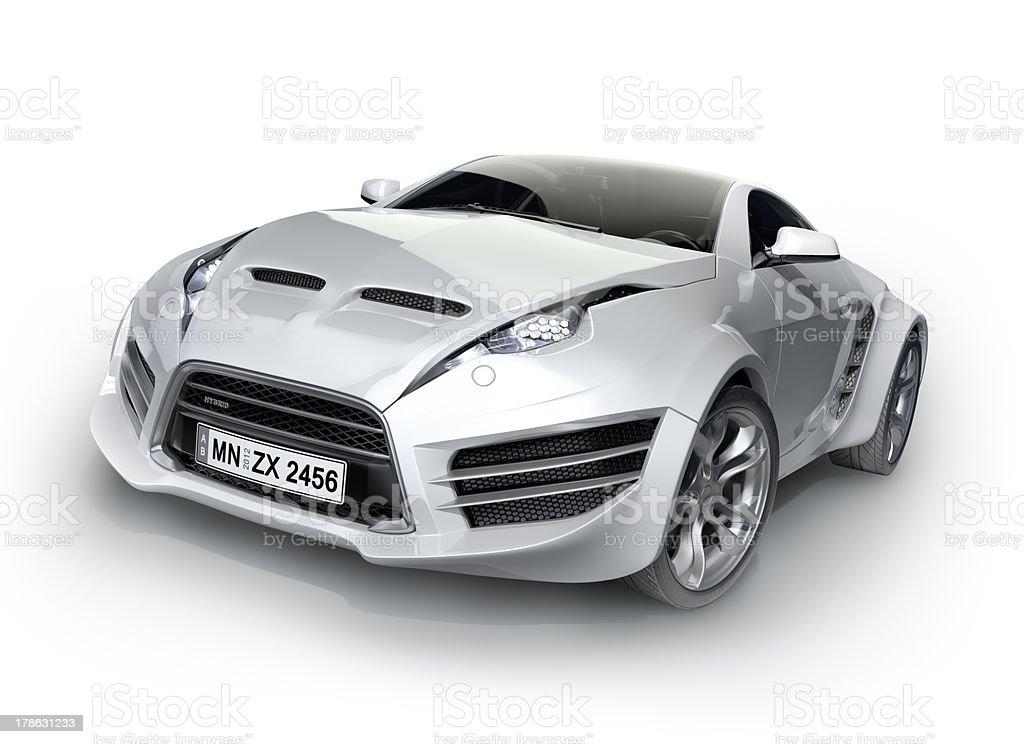 Sports car isolated on white background stock photo