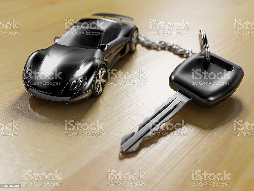 Sports Car Key Ring stock photo