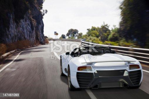 istock Sports Car on a Coastal Road 147461093