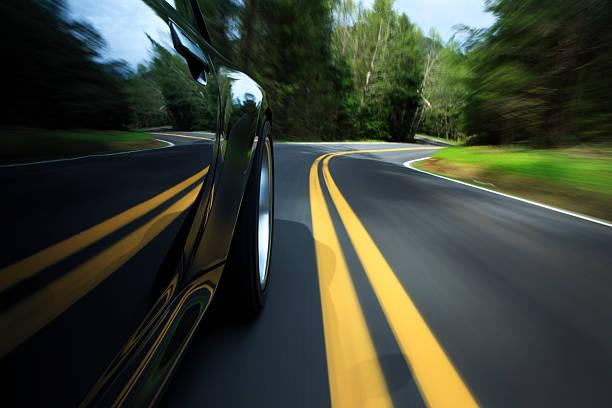 Sport Auto auf der country road. – Foto