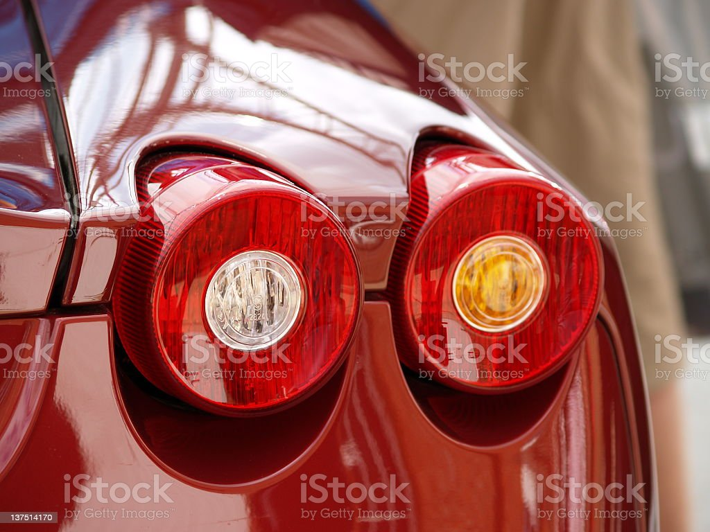 Sports Car Tail Light royalty-free stock photo