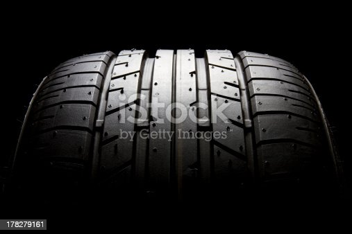 istock Sports car tyre profile close-up 178279161