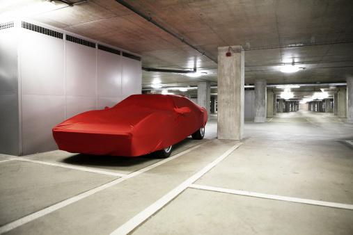 Sports Car Under Wraps