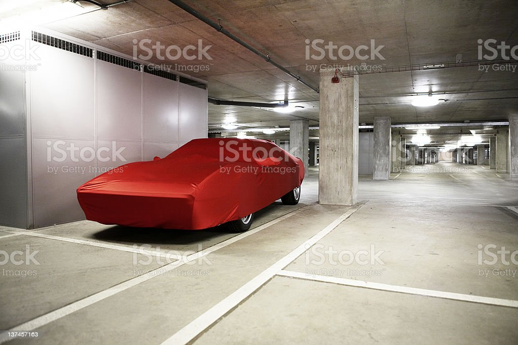 Sports Car Under Wraps stock photo