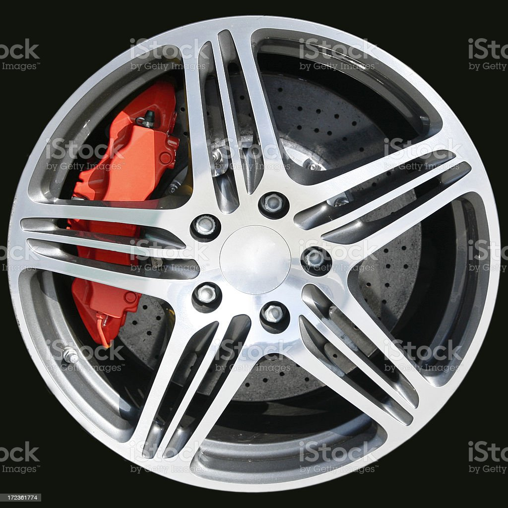 Sports Car Wheel royalty-free stock photo