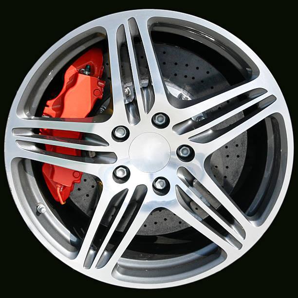sports car wheel - wheel black background bildbanksfoton och bilder