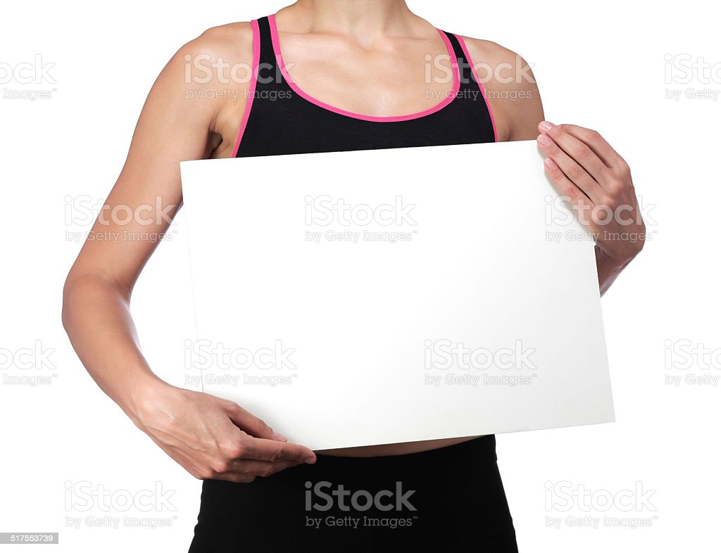 sports coach holding a white board stock photo