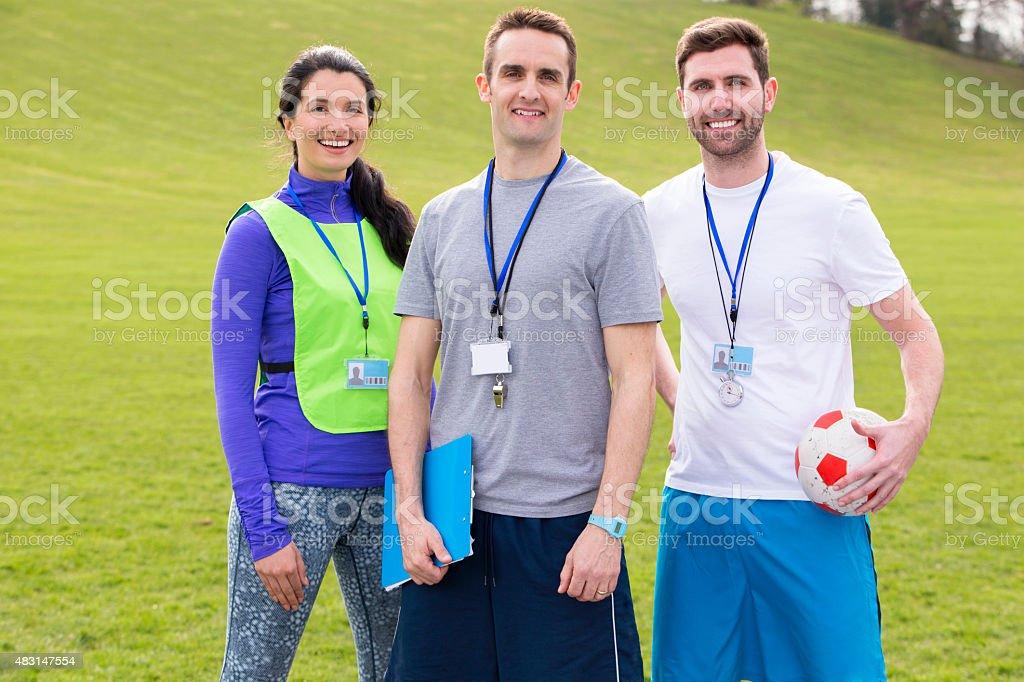 Sports Coaches stock photo