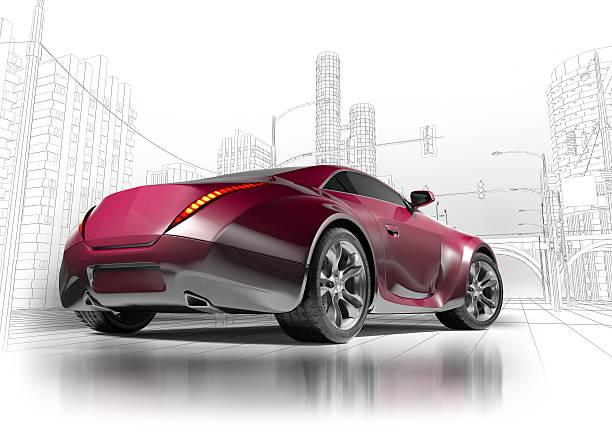 Sports concept car stock photo