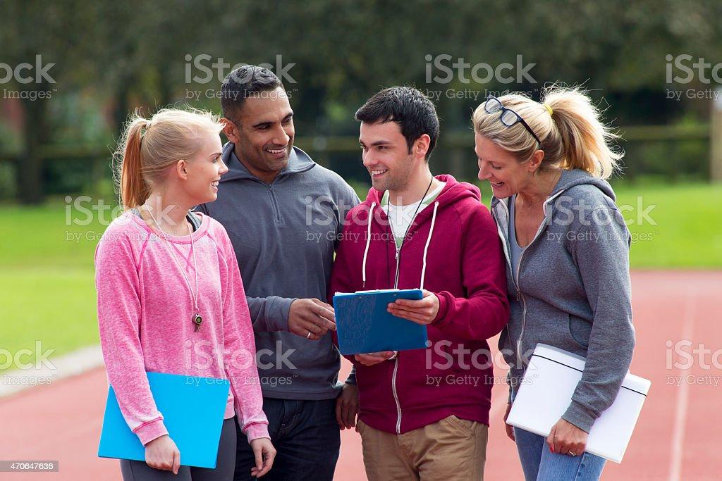 Sports Day Coaches stock photo