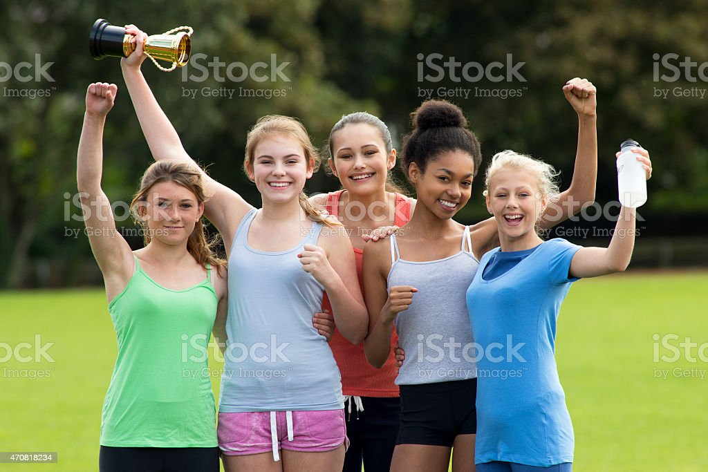 Sports Day Winners stock photo