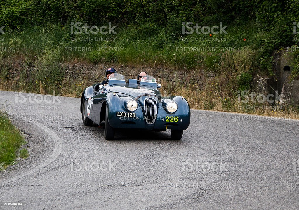 JAGUAR XK 120 OTS Sports Ecurie Ecosse 1951 stock photo