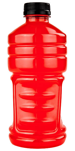 Sports Electrolytes Drink In Plastic Bottle stock photo