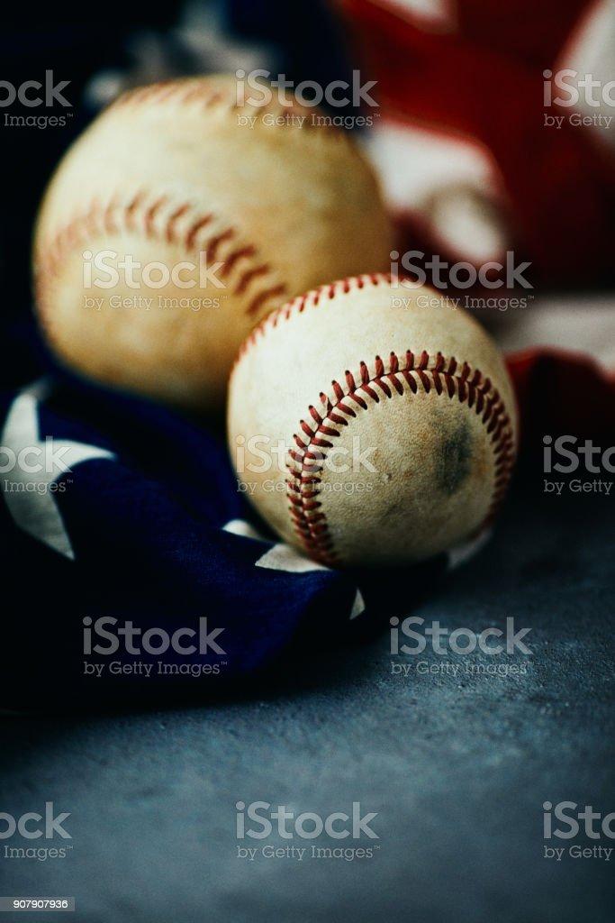 Sports Equipment. Baseball and softball still life