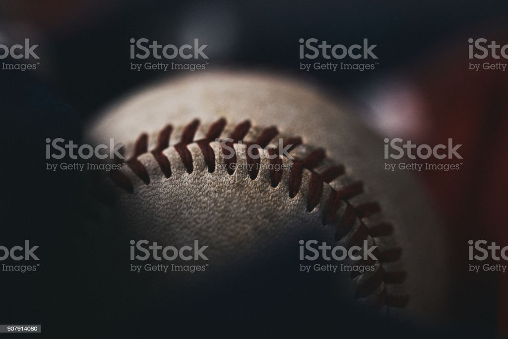 Sports Equipment. Baseball still life, ball with American flag