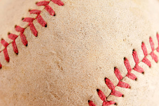 sports equipment old baseball background texture - baseball стоковые фото и изображения