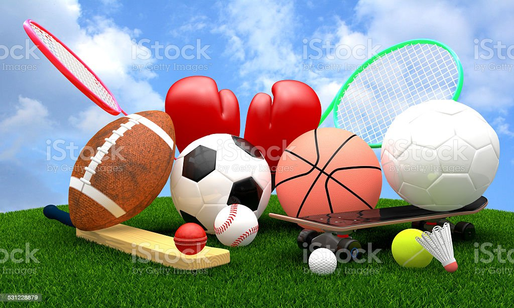 sports equipment stock photo