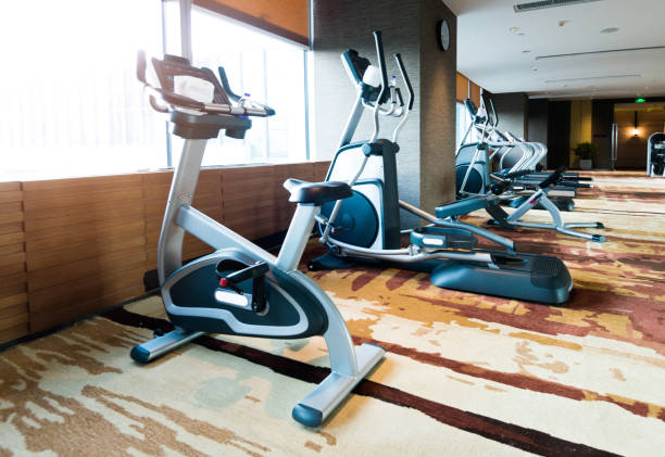 Sports equipments in modern gym Sports equipments in modern gym training equipment stock pictures, royalty-free photos & images