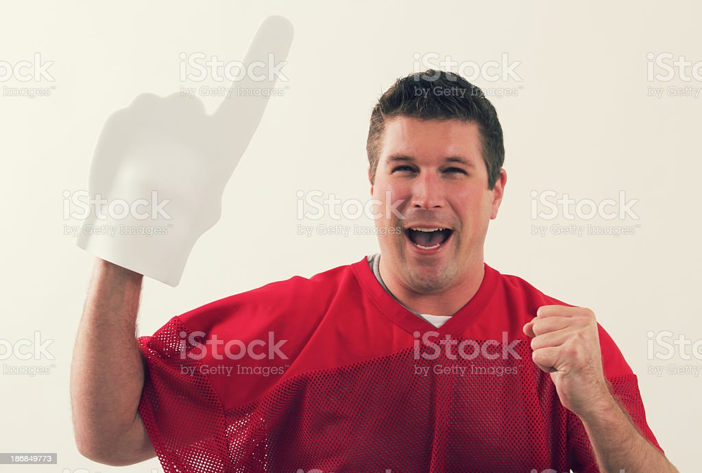 Sports Fan Cheering royalty-free stock photo