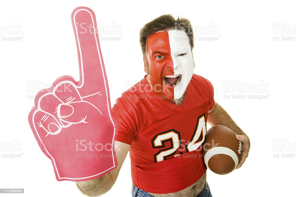 Sports Fan Winner stock photo