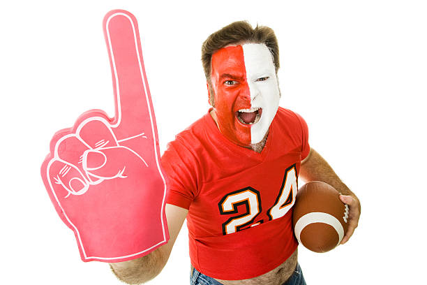 Sports Fan Winner  body paint stock pictures, royalty-free photos & images