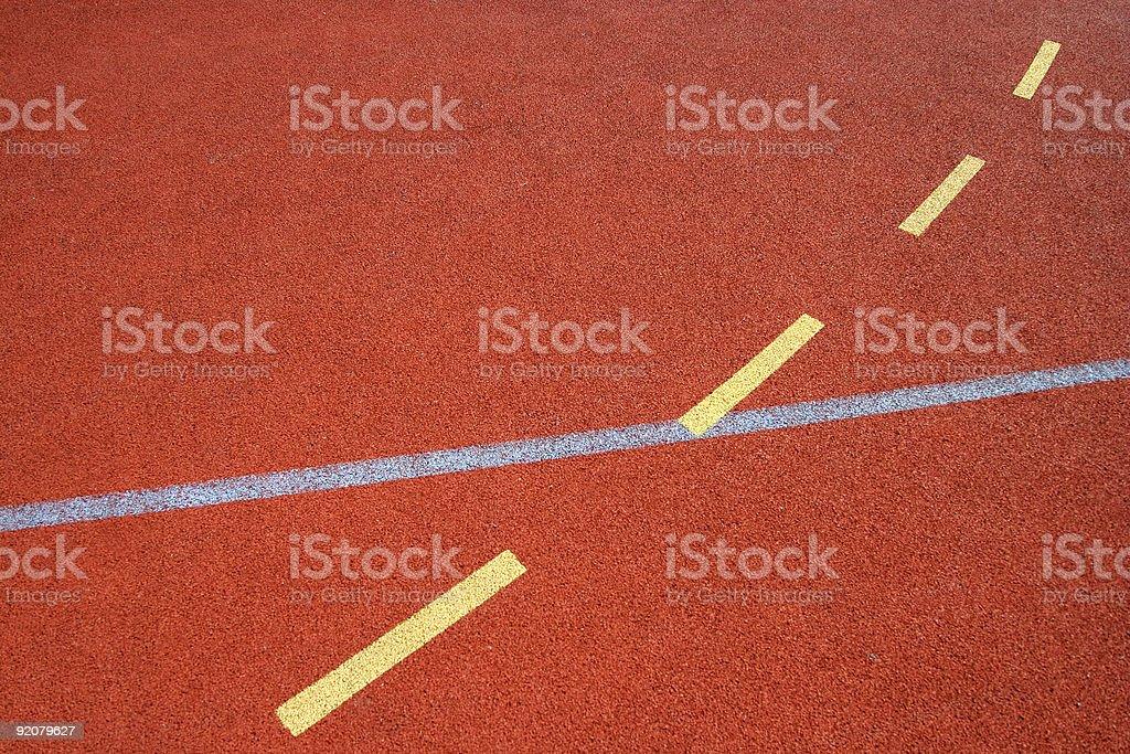 Sports field floor royalty-free stock photo