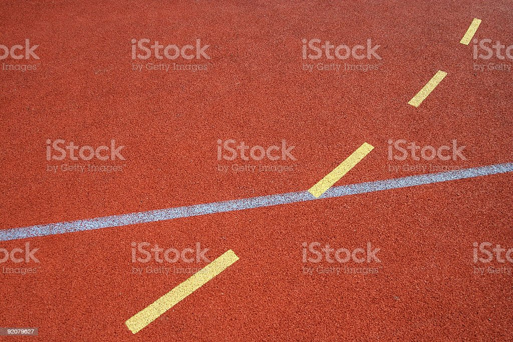 Sports field floor stock photo