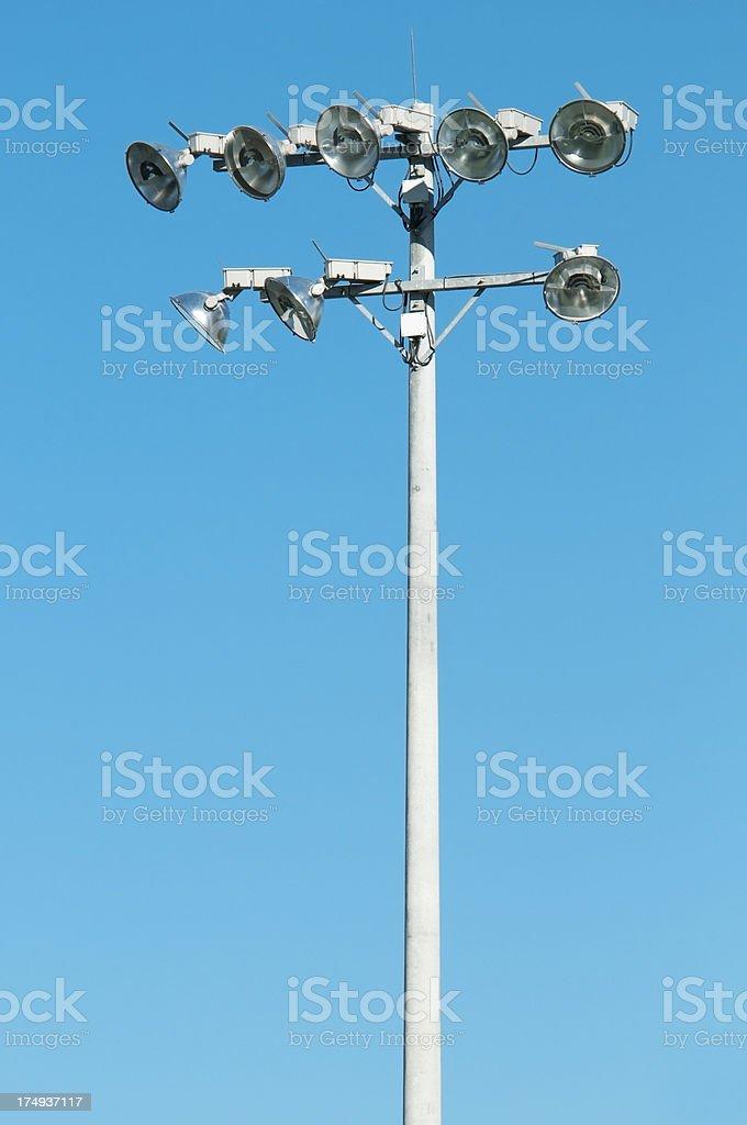 Sports field lighting royalty-free stock photo