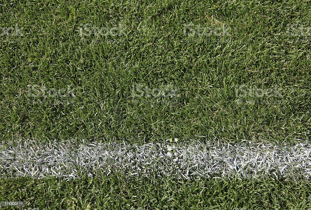 Sports field white lines stock photo
