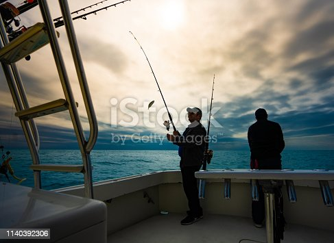 Sports fishermen Miami Florida