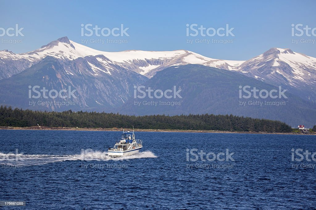 Sports:  Fishing yacht in Ketchikan Alaska royalty-free stock photo