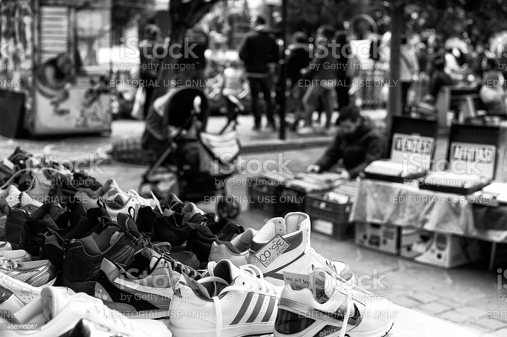 Sports Footwear. Black and White stock photo