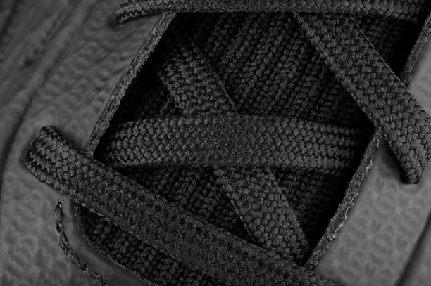 Sports Footwear Laces Macro stock photo