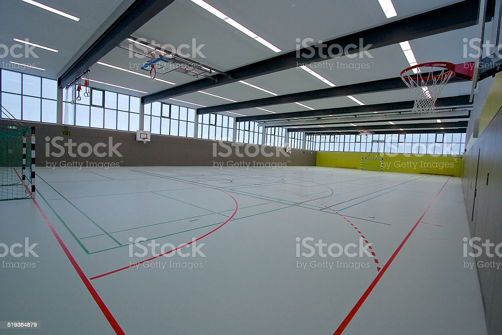 Sports hall for schools stock photo