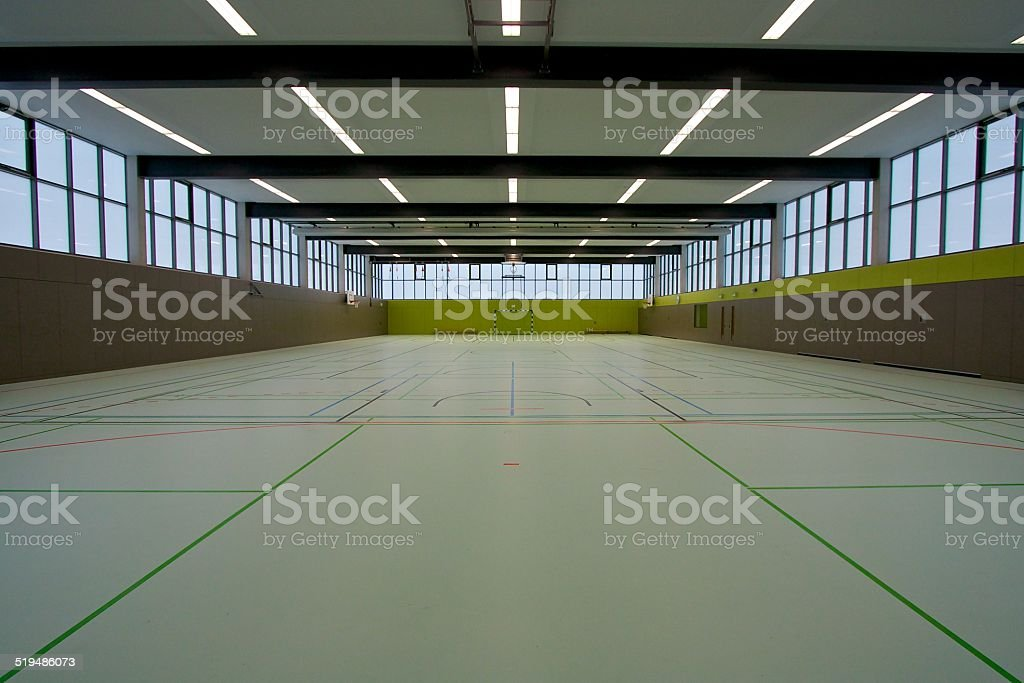 Sports hall from the middle stock photo