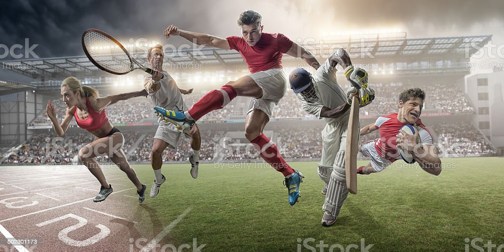 Sports Heroes stock photo