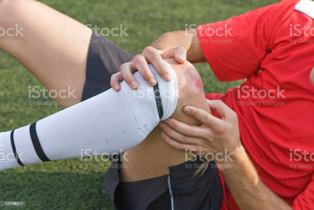 sports injury royalty-free stock photo