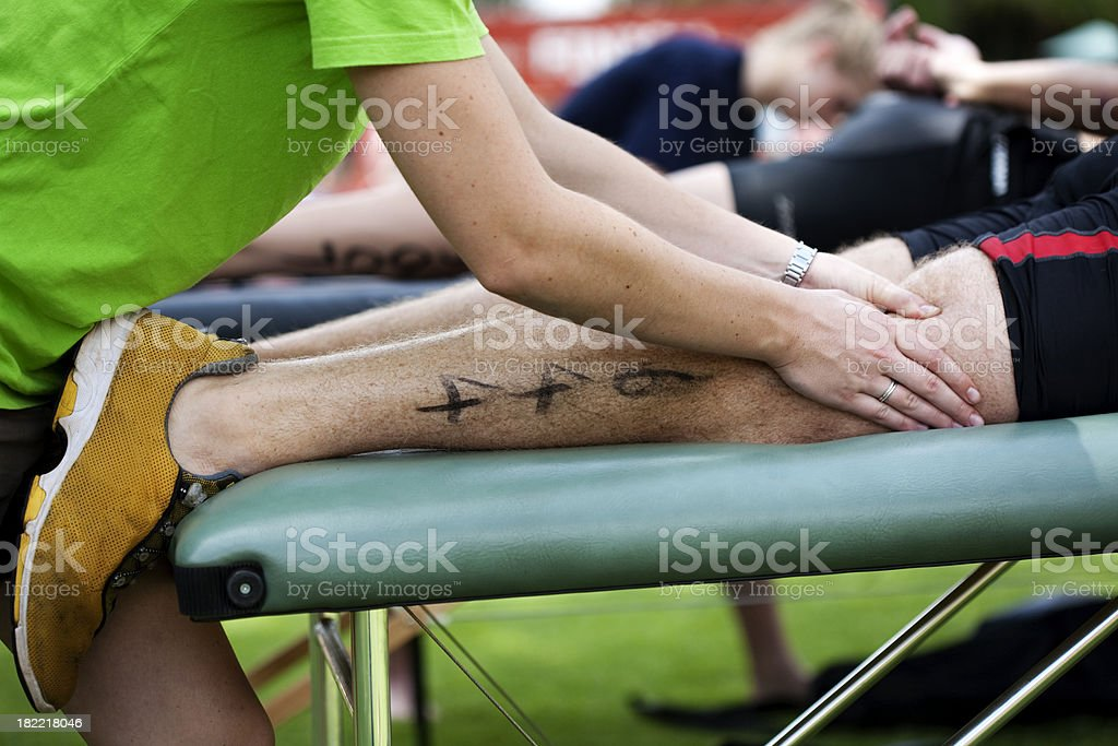 Sports Massage stock photo