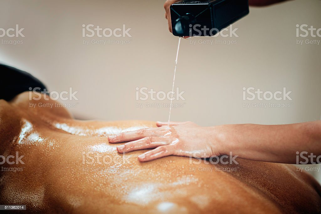 Sports massage stock photo