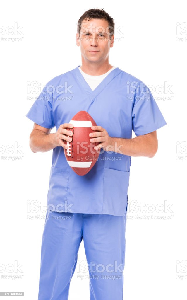 Sports Medicine Doctor Surgeon Isolated on White Background royalty-free stock photo