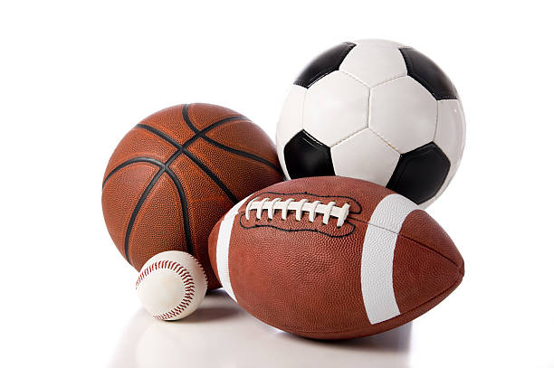 sports objects - ball stock photos and pictures