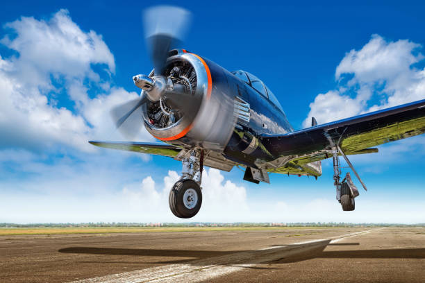 sports plane - airshow stock photos and pictures